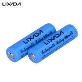 2pcs Lixada 3.7V 900mAh 14500 Li-ion Rechargeable Battery