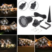 Tomshine 4W 4LEDs Moving White Snowflake Projector Light