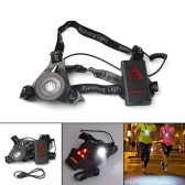 LED Chest Running Light 3 Modes Rechargeable 800LM for Hunting Jogging Hiking Outdoor Sports
