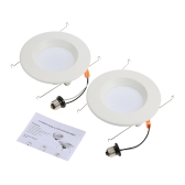 Temperatura de color 5000K 12W 5 / 6inch Triac Dimmable LED Retrofit Downlight Luz de techo