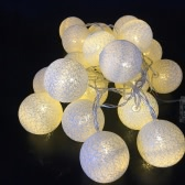 10/20 Pcs Colorful Fabric Creamy Cotton Lamp Ball String Fairy LED Lights Decor Romantic Decoration Ligthing Bulb with Mixed Colors for Xmas Wedding Party