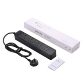 WIFI Smart Power Strip con interfaz 3AC y 4 puertos de carga USB