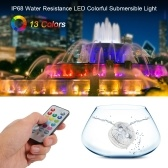 1PCS Mini LED RGB Submersible Light Colorful Lamp with Remote Control