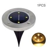 1PCS Солнечный свет лужайки на улице 4 светодиодных фонаря