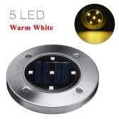 Solar Power LED Ground Lights 5 LEDs Lawn Lamp