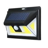 76 светодиодов COB солнечные источники питания PIR датчик движения настенный светильник