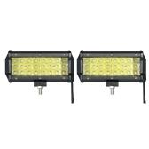 2pcs 72W Auto Arbeit Licht Bar 6000K Beleuchtung (Spot Beam)