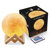 16 Colors 3D Printing LED Moon Light Lunar Night Lamp(18CM)