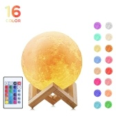 16 Цвета 3D-печати Светодиодный свет лунного света Лунная лампа (12 см)