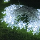 3W 7.5M 50 LEDs Snowflake String Light