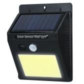 48 COB LEDs Solar Powered luz de parede
