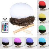 USB Rechargeable RGBW LED 3D Bird Nest Light with Remote Control