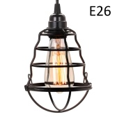 Mini lampada a sospensione industriale Lampade a sospensione a sospensione a gabbia vintage Lampada a sospensione regolabile per cucina Sala da pranzo Bar (senza lampadina)