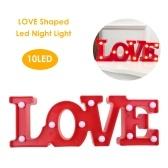 Led Night Light ЛЮБОВЬ Shaped Украшение Лампа на День Рождения Валентина