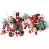 6.56ft Pine Cones Jingle Bell LEDs Christmas String Lights