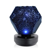 Lámpara de noche estrellada LED romántica Proyector de estrella 3D Luz para niños Proyección de dormitorio Planetario doméstico