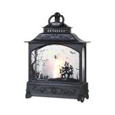 Хэллоуин свеча фонарь винтажный стиль ручная свеча светодиодная лампа для дома и улицы праздничный центральный декоративный подвесной светильник