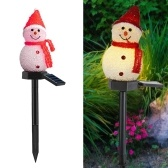 Solar Powered Energy Sensitive Light Sensor Control Lawn Light Snowman Design Outdoor Landscape Lamp