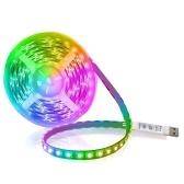 Набор светодиодных лент USB RGB Гибкие светодиоды Веревочное освещение Мини 3-кнопочные режущие самоклеящиеся светодиодные ленты для украшения дома Вечеринка Ресторан KTV Club