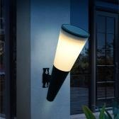 Lámpara de pared solar Patio al aire libre Pasillo Lámpara de jardín Seguridad nocturna IP65 Impermeable