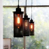 Vintage-Deckenpendelleuchte Basis 1 Lampholder E27 AC110-220V Berg Hängeleuchte Kronleuchter Eisen Loft Industrie Retro antike Art Dining Hall Restaurant Bar Cafe Lighting