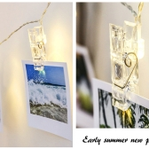 Mini bricolage LED clips Photo String Light