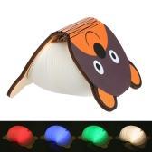 Luz plegable recargable colorida del libro de la historieta USB