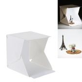 32LEDs plegable portátil cubo caja caja fotografía iluminación con telones de fondo