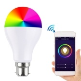 RGB + W WIFI LED Smart inteligente bombilla aplicación del teléfono celular / control de voz