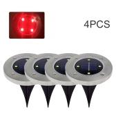 4PCS Солнечный свет лужайки на улице 4 светодиодных фонаря