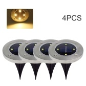 4PCS Solar Lawn Light Outdoor 4 Led Ground Lights