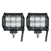 2pcs 18W Car Work Light Bar 6000K Lighting(Flood Beam)