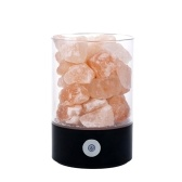 DC5V 3W Natural Crystal Salt Rock LED Luz de la noche