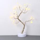 2 Modo de oferta Impetus Ahorro de energía Decoración del hogar 36 Bombillas de perlas Luz de bonsái en forma de árbol emulacional con color blanco cálido