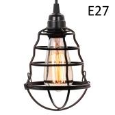 Industrial Mini Pendant Light Vintage Hanging Cage Ceiling Lights Adjustable Pendant Lamp for Kitchen Dining Room Bars (no bulb)
