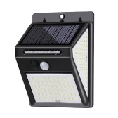 140leds Solar Powered Wall Lamp Lighting Sensor and PIR Motion Sensor Control Three Sides Wall Mounted Light