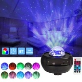 Starry Sky Led Projector Light with Remote Control Led Projection Night Lamp 3 Levels Brightness&10 Lighting Modes Support U-disk / Card Reader / BT Music Player&Timer Function