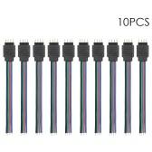 10 Pack RGB 4-контактный удлинитель для светодиодной полосы
