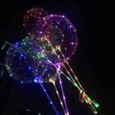 3 Stücke 18 inch Luminous LED BoBo Ballon Transparente Led-Licht Bunte Blinkende Lampe mit Stick für Geburtstag Hochzeit Valentinstag Party Dekorationen