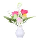 AC110-220V Светодиодная цветочная ваза Настенная лампа Ночная световая подсветка Автоматическое изменение цвета