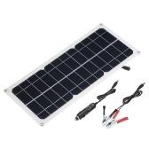 Panel de carga de energía solar de salida dual con cargador de coche de interfaz USB