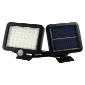 56 LEDs Outdoor Solar Powered Motion Sensor Light Garden Safety Protection Lamp Waterproof Wall Mounted Path Lights