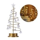 Рождественский светодиодный светильник для дома, свадьбы, фестиваля, настольного декора, теплый белый декоративный светильник с хрустальным кулоном