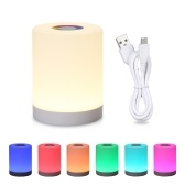 Home Intelligent Touch Control Night Light Portable Hook Colorful Lamp