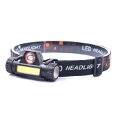 Mini USB Rechargeable COB LEDs Headlamp