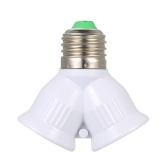E27 Macho para 2 Fêmea Y Forma LED Base de Lâmpada Adaptador Splitter Tomada Titular Da Lâmpada