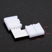 10 Pack White L Shape 4 Pins RGB LED Strip Connector Quick Splitter