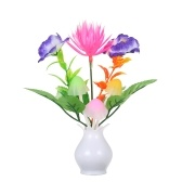 AC110-220V LED Flower Florero Potted Lámpara de pared Night Light Sensitive Light Control Cambio automático de color