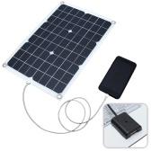Двойной выход солнечной энергии зарядная панель с автомобильным зарядным устройством