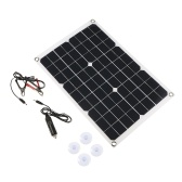 Dual Output Solar Power Energy Charging Panel With Car Charger